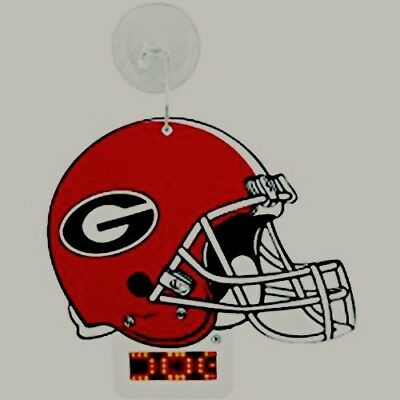 NCAA Georgia Bulldogs Light-Up Football Helmet with suction cup for displaying. Georgia Bulldogs Red Light