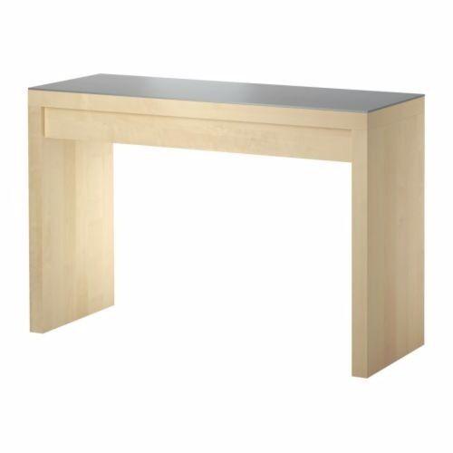 Ikea oak malm dressing table with glass top and drawer - Malm dressing table drawer organizer ...