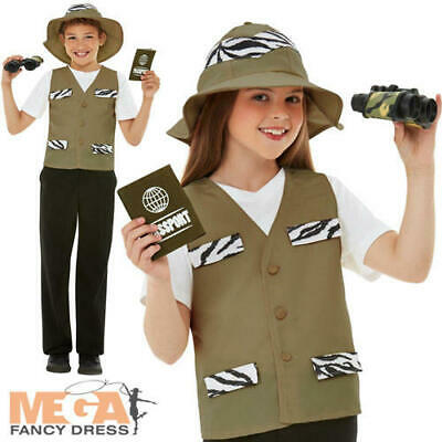 Safari Explorer Kit Kids Fancy Dress Zoo Keeper Boys Girls Book Day Costume Set - Zoo Keeper Costume