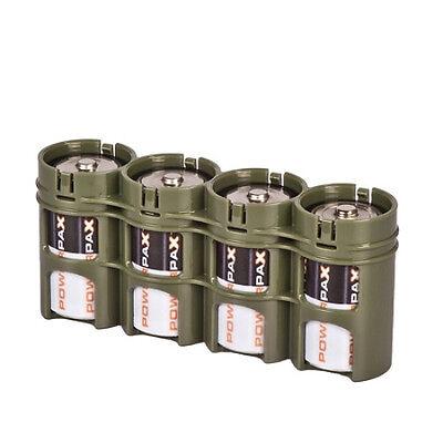 Powerpax SlimLine D4 for D Cell Military Green Battery Case