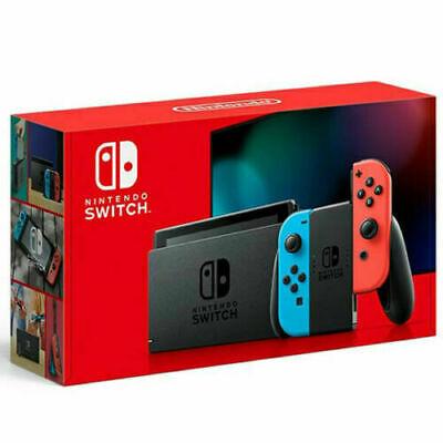 Nintendo Switch Console Neon Joy-Cons HADSKABAA V2 Enhanced Battery NEW 2020