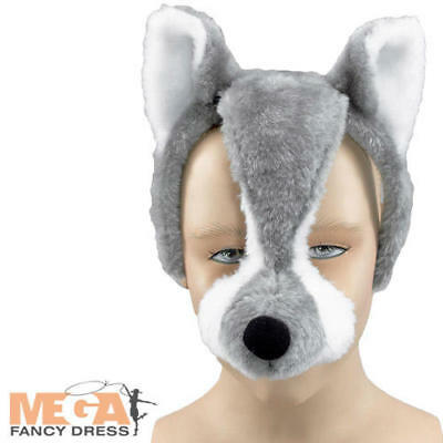 Wolf Mask with Sound Fancy Dress Kids Adults Animal Book Week Costume Accessory](Wolf Mask Kids)