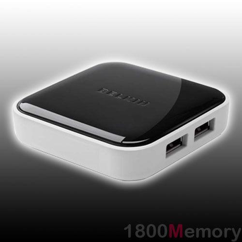 BELKIN 4 Port Hi-Speed USB 2.0 Ultra Slim Powered Desktop Hub for PC / MAC