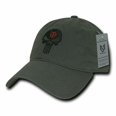 Olive Punisher Skull Military Navy Seal Special Forces Polo Baseball Hat Cap
