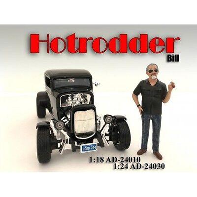 1/24 FIGURINE/Figure - HOTRODDER BILL for your shop/garage-AMERICAN DIORAMA