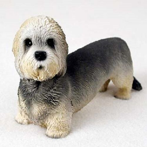 DANDIE DINMONT TERRIER Dog HAND PAINTED FIGURINE Resin Statue COLLECTIBLE puppy