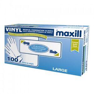 maxill Vinyl Powdered gloves