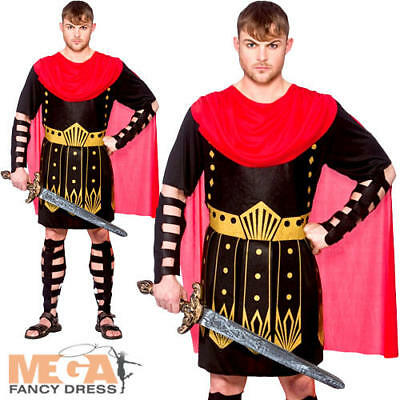Roman Warrior Mens Fancy Dress Ancient Centurion Greek Gladiator Adults - Ancient Greek Warrior Costume