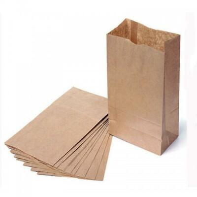 100 Brown 70gsm Kraft paper block bottom bags 8 x 12.5 x 15 inc (210 x 315 x 38)