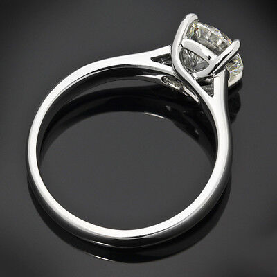 GIA Certified .70 Carat G/I1 Round Cut Diamond Engagement Ring White Gold 4