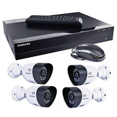 Samsung SDH-B3040 4-CH 1TB HD DVR Home Security System w/ 4 Night-Vision Cameras