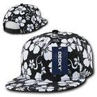 5 Panel Black Floral Hats for Men