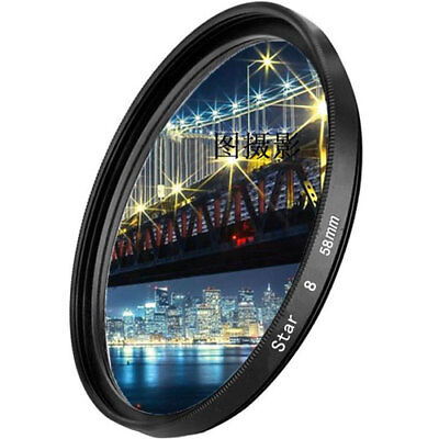 (+4 Point Star Cross Filter 37/40.5/49/52/55/58/62/67/72/77mm for Canon Nikon)