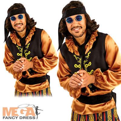 60s Rock Star Mens Fancy Dress Groovy Hippie Hippy 1960s Adults Costume - 60's Rock Star Kostüm