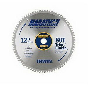 New irwin industrial tools 14083 12 inch 80 teeth miter for 12 inch table saw blades