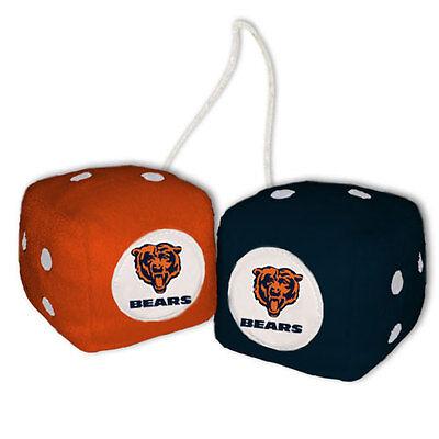 CHICAGO BEARS PLUSH FUZZY DICE CAR MIRROR DANGLER NFL (Chicago Bears Plush Football)