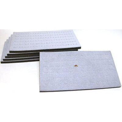 New 5 Pcs Jewelry 72 Slot Ring Foam Display Insert Pad Gray