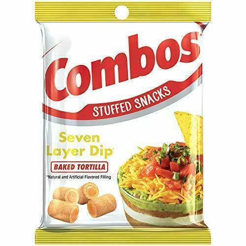 COMBOS 7 Layer Dip Stuffed Tortilla Baked Snacks 6.3-Ounce Bag (1-Large Bag)