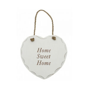NEW HANGING WOODEN HEART SHAPED PLAQUE SIGN MESSAGE DECORATION GIFT DOOR WALL