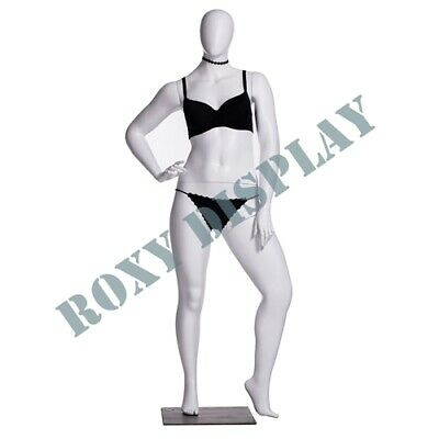 Female Plus Size Egg Head Mannequin Dress Form Display Mz-f3d03w