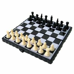 Luxury Gift Inc Magnetic Travel Chess Set Black & White