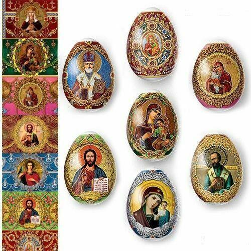 Easter Egg Wraps for 7 Hen Eggs, Pysanka,  Eggs Heat Shrink Sleeves Faberge