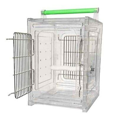2101 Perch and Go Acrylic Travel Carrier bird cages toy toys conure african grey