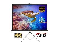 "84"" Portable Tripod Screen, Projector Screen, Tripod Stand, Manual Projector Screens"