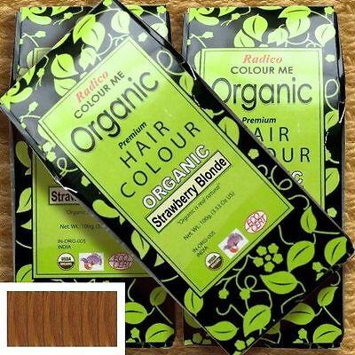 Henna Strawberry (Radico Colour Me Organic Strawberry Blonde Pflanzenhaarfarbe Erdbeerblond, 100 g)