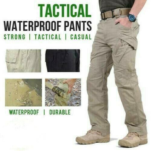 Soldier Tactical Waterproof Pants Mens Cargo Pants Combat Hiking Outdoor 2021