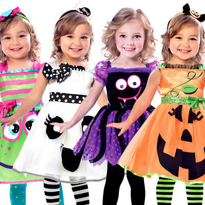 Cute Halloween Girls Fancy Dress Creepy Spooky Toddler Infants Childs - Creepy Toddler Costumes