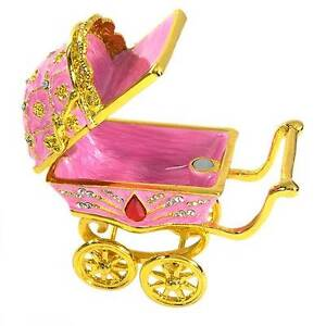 NEW GLAMOROUS BABY CARRIAGE / JEWELERY CONTAINER