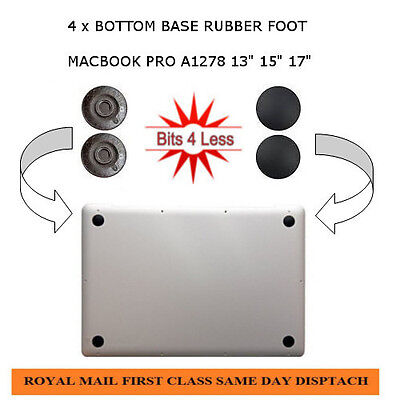 "New Original Apple Macbook Pro A1278 13"" bottom base 4 X Rubber Feet foot pad"