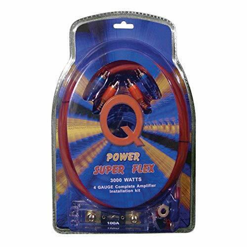 Qpower Super Flex 4 Gauge 3000 Watt Amplifier Wiring Amp Kit   4GAMPKIT-SFLEX