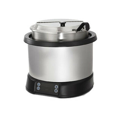 Vollrath 7470110 7 Quart Mirage Induction Soup Rethermalizer Natural Black