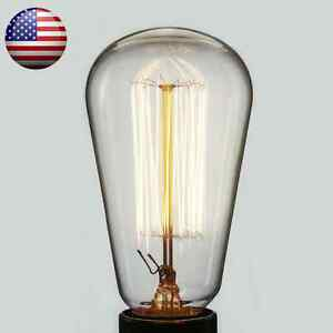 old fashioned thomas edison light bulb lamp marconi filament tungsten. Black Bedroom Furniture Sets. Home Design Ideas