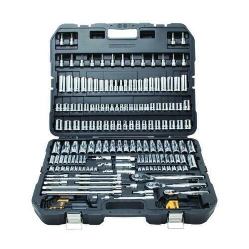 DEWALT DWMT75049 192 Piece Mechanics Tool Socket Set SAE & M