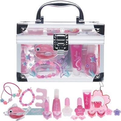 Kinder Meerjungfrau Beauty Kosmetik Make-up Acryl Schminkkoffer 22 teilig (66)