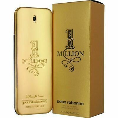 1 Million by Paco Rabbane 6.7 / 6.8 oz EDT Cologne for Men New In Box