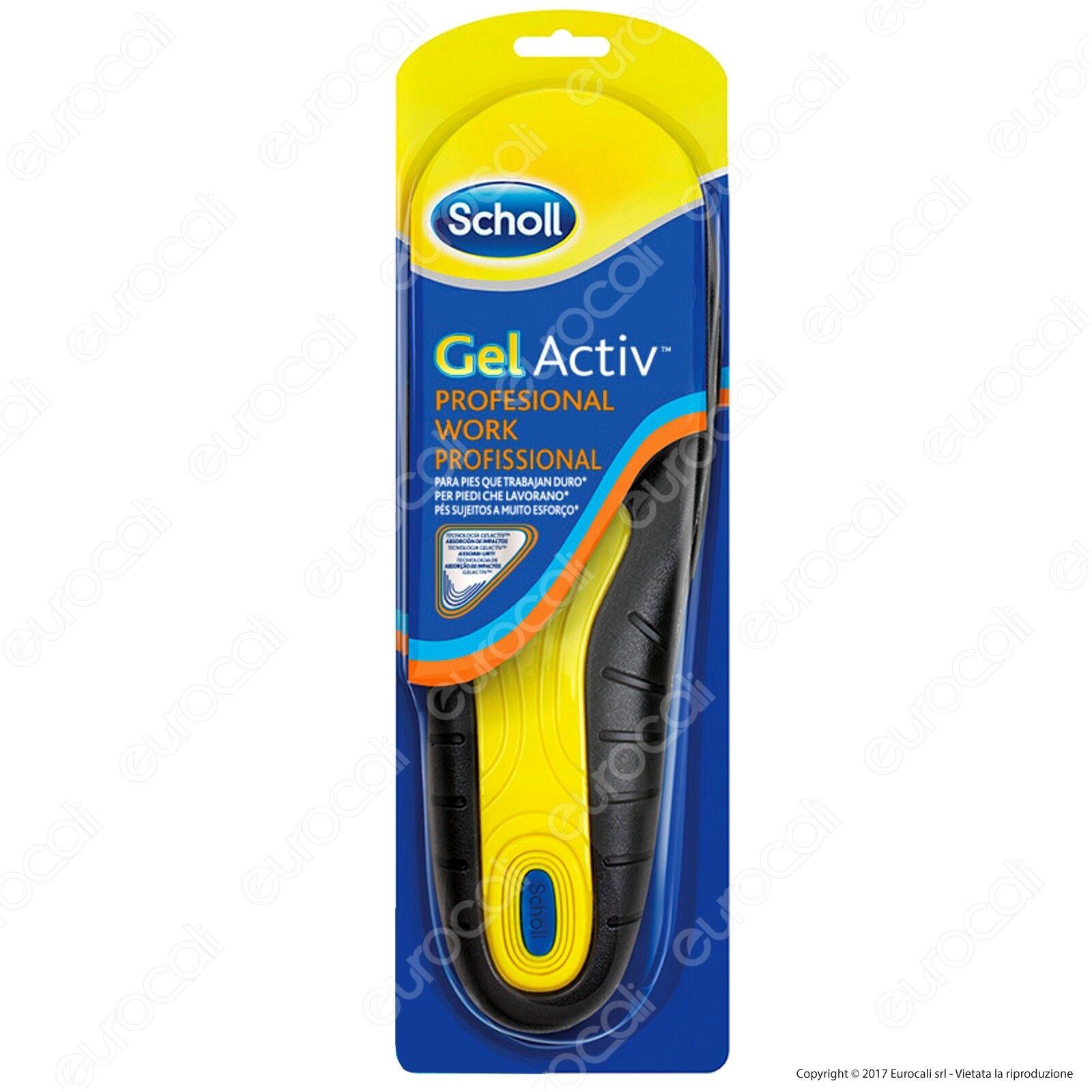 Scholl Gel Activ Work Pro Solette da Lavoro 1 Paio per Scarpe Piedi Uomo Donna