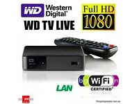 Western Digital WD TV Live Streaming Media Player HD 1080p HDMI with remote and AC adapter