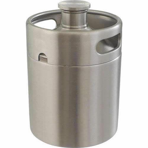 Stainless Steel Mini Keg Growler (64 oz) 1/2 Gallon
