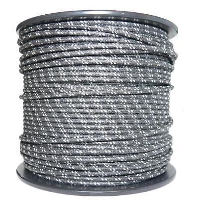 1M Algodón Trenzado Eléctrico Del Automóvil Cable 18 Calibre Negro Blanco Mancha