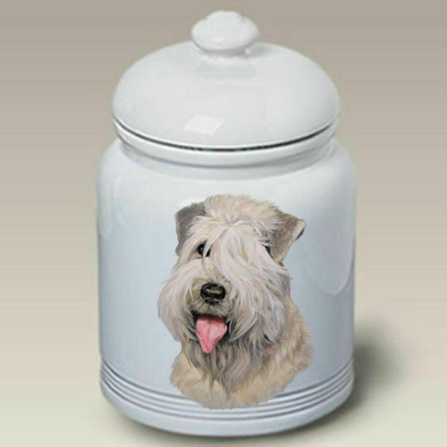Wheaten Terrier Ceramic Treat Jar LP 45056