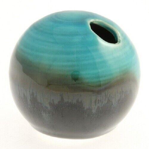 Kotobuki Japanese Mini Flower Ikebana Vase Ceramic Globe Jade Ocean Kelp 510-220