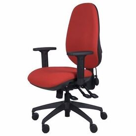 Energi-24 'Back Care' Posture Operators Chair in Burgundy - Rrp £219 - BRAND NEW - BOXED