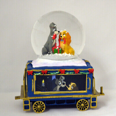 Disney Lady and the Tramp Express Miniature Train Snow Dome Water Globe #7