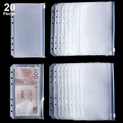 Binder Pocket - A6 Size Binder Zipper Folders Plastic 20