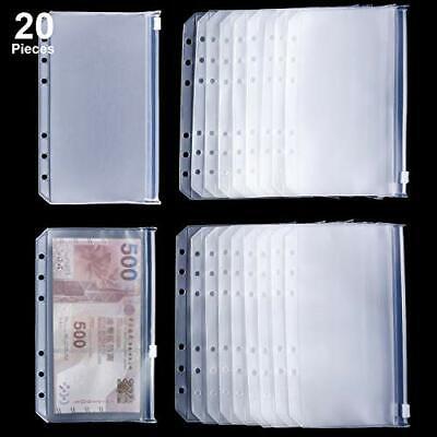 Binder Pocket - A6 Size Binder Zipper Folders Plastic 20