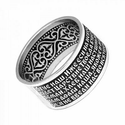 Orthodox Women Silver 925 Ring Save and Protect Zircone.